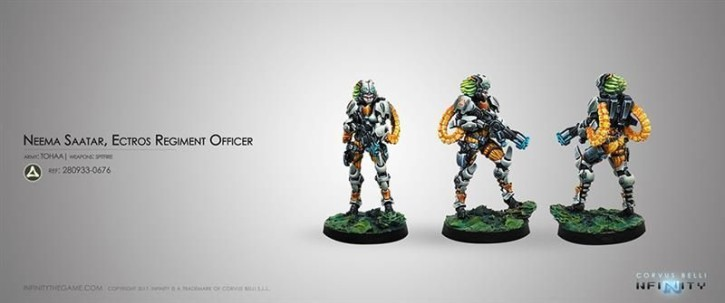 INFINITY: Neema Saatar, Ectros Regiment Officer (Spitfire)