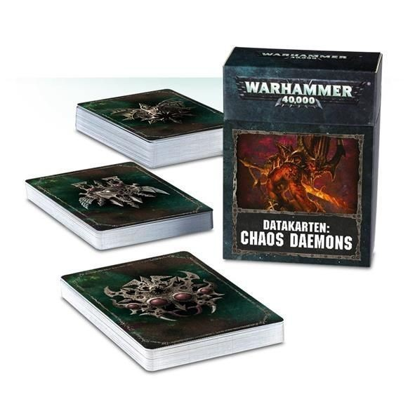 W40K: Datakarten: Chaos Dämonen - DE