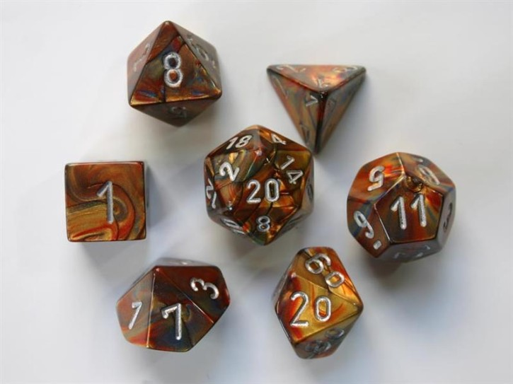 CHESSEX: Lustrous Gold/Silver 7-Die RPG Set