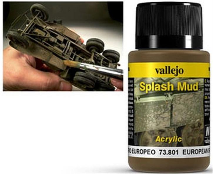 VALLEJO WEATHERING: Splash Mud European (40ml)