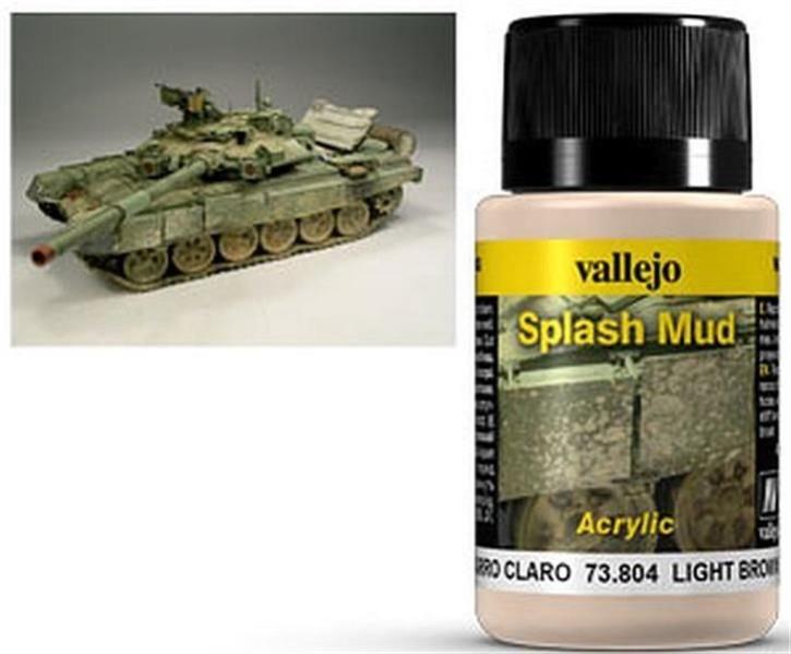 VALLEJO WEATHERING: Splash Mud Light Brown (40ml)