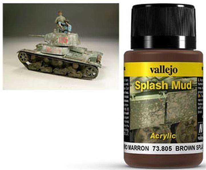 VALLEJO WEATHERING: Splash Mud Brown (40ml)