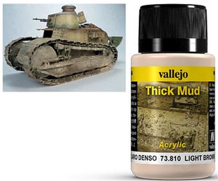 VALLEJO WEATHERING: Thick Mud Light Brown (40ml)