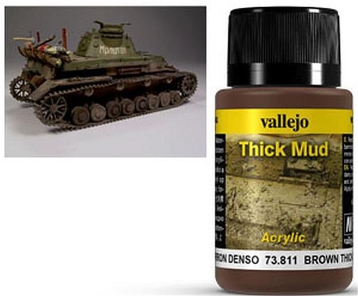VALLEJO WEATHERING: Thick Mud Brown (40ml)