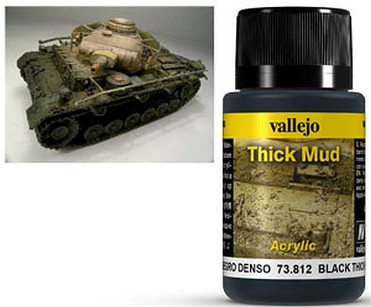VALLEJO WEATHERING: Thick Mud Black (40ml)