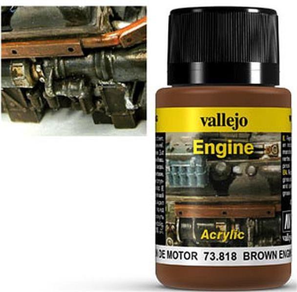 VALLEJO WEATHERING: Engine Effect Brown Engine Soot (40ml)