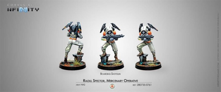 INFINITY: Raoul Spector, Mercenary Operative (Boarding Shot)