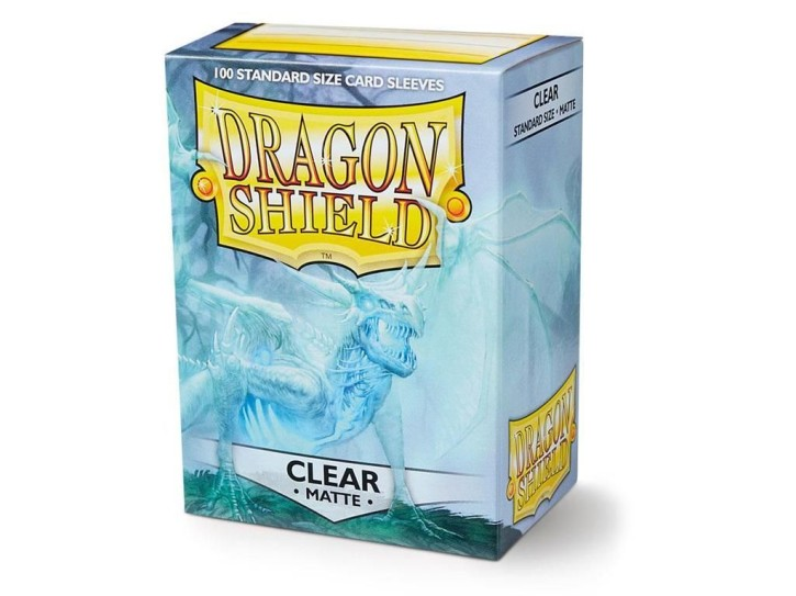 DRAGON SHIELD: Standard Sleeves - Matte Clear (100 Sleeves)