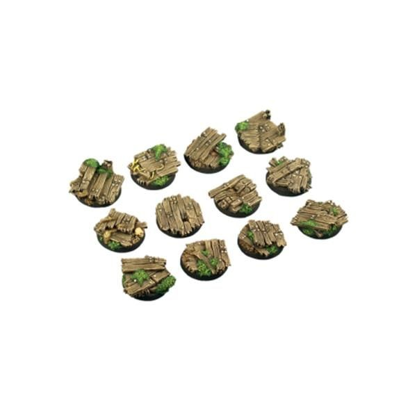WOOD BASES: Round 25mm (5)