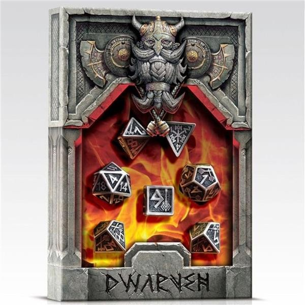 Q-WORKSHOP: Metall Dwarven Dice Set (7)
