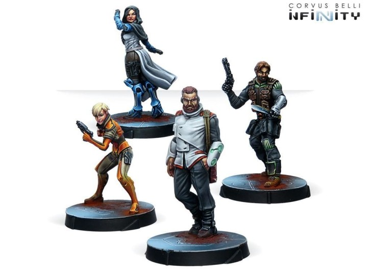INFINITY: Agents of the Human Sphere. RPG Characters set