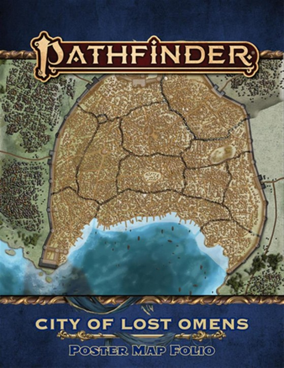 PATHFINDER 2ND: City of Lost Omens Poster Map Folio - EN