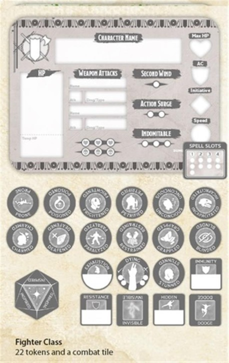 D&D: Fighter Token Set