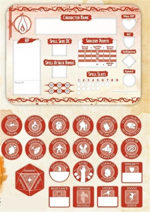 D&D: Sorcerer Token Set
