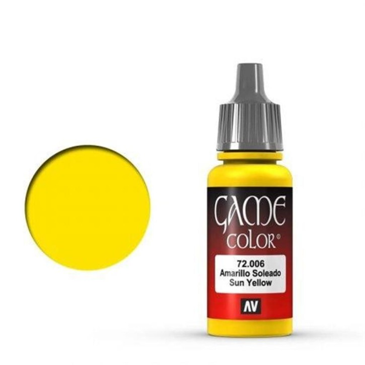 VALLEJO GAME COLOR: 006 Sunblast Yellow 17 ml