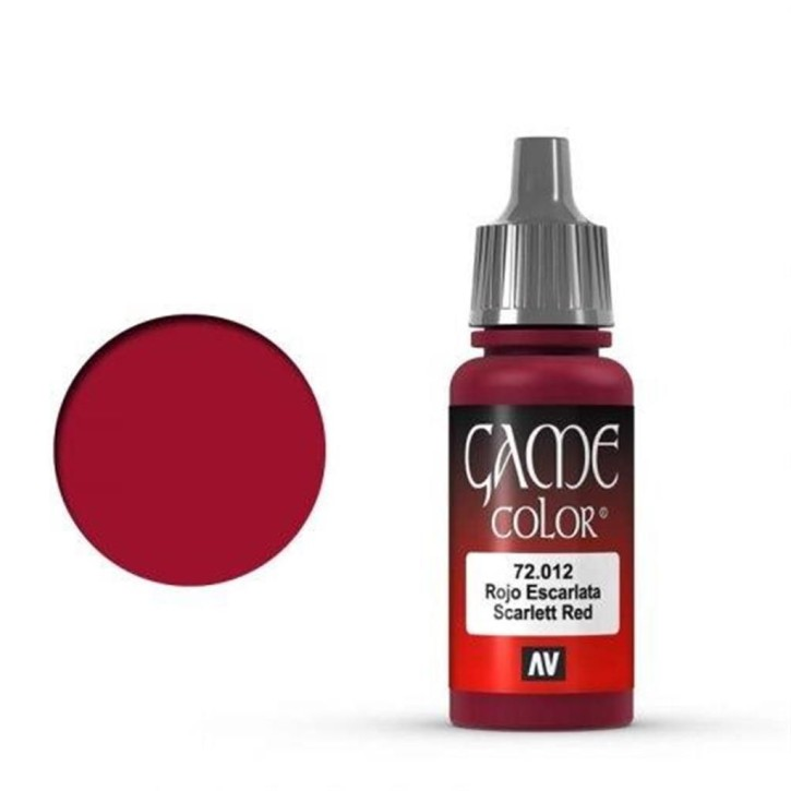 VALLEJO GAME COLOR: 012 Narben Rot 17 ml