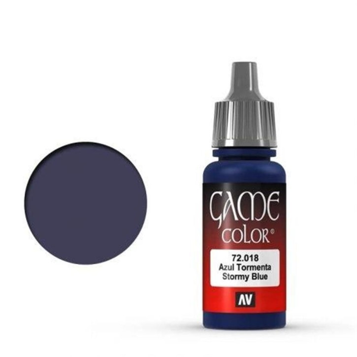 VALLEJO GAME COLOR: 018 Stürmisches Blau 17 ml