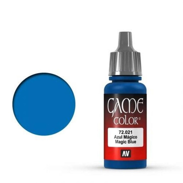 VALLEJO GAME COLOR: 021 Magisches Blau 17 ml