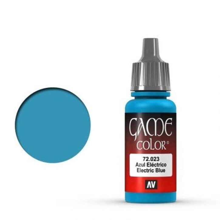 VALLEJO GAME COLOR: 023 Elektrisches Blau 17 ml