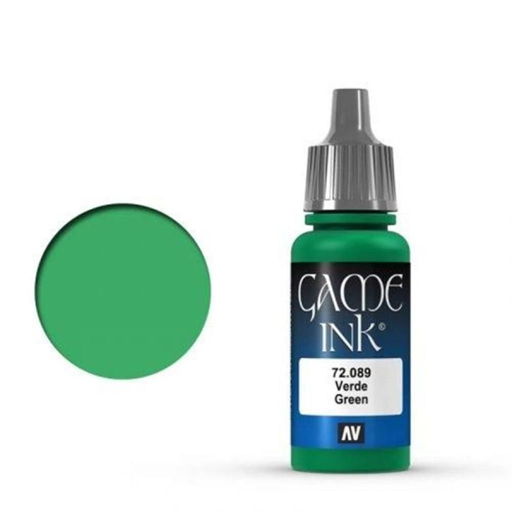VALLEJO GAME COLOR: 089 Ink Green 17 ml