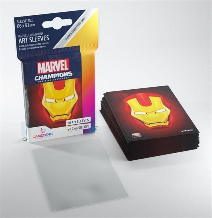 GAMEGENIC: Iron Man: MARVEL CHAMPIONS Art-Sleeves