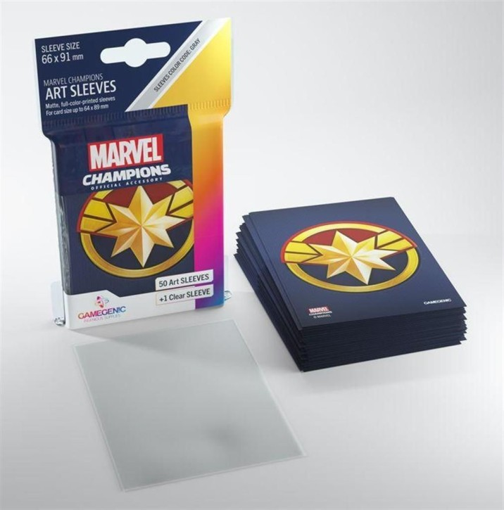 GAMEGENIC: Captain Marvel: MARVEL CHAMPIONS Art-Sleeves