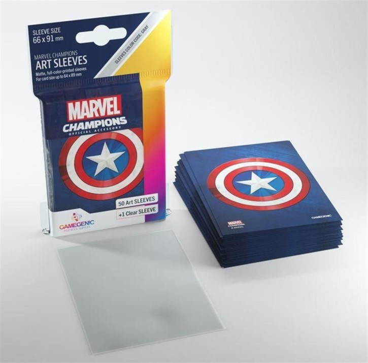 GAMEGENIC: Captain America: MARVEL CHAMPIONS Art-Sleeves