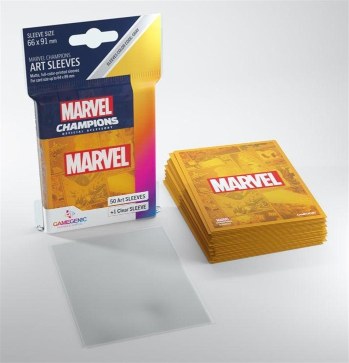 GAMEGENIC: Marvel Orange: MARVEL CHAMPIONS Art-Sleeves
