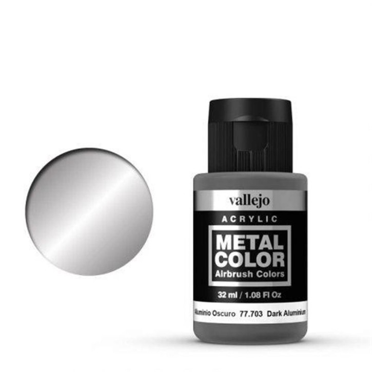 VALLEJO METAL COLOR: 703 Dunkles Aluminium 32 ml
