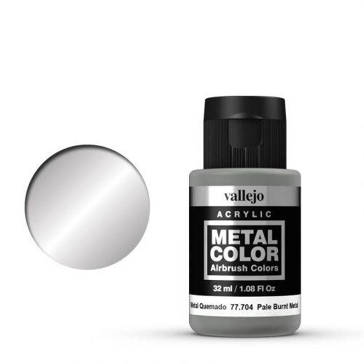 VALLEJO METAL COLOR: 704 Pale Burnt Metal 32 ml