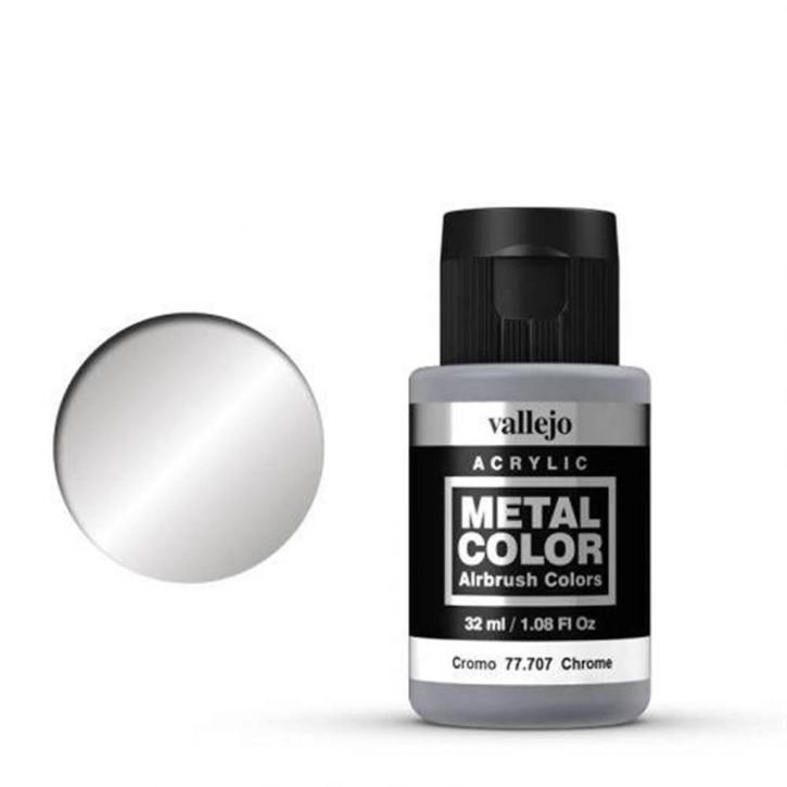 VALLEJO METAL COLOR: 707 Chrome 32 ml