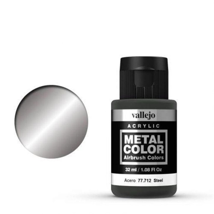 VALLEJO METAL COLOR: 712 Steel 32 ml