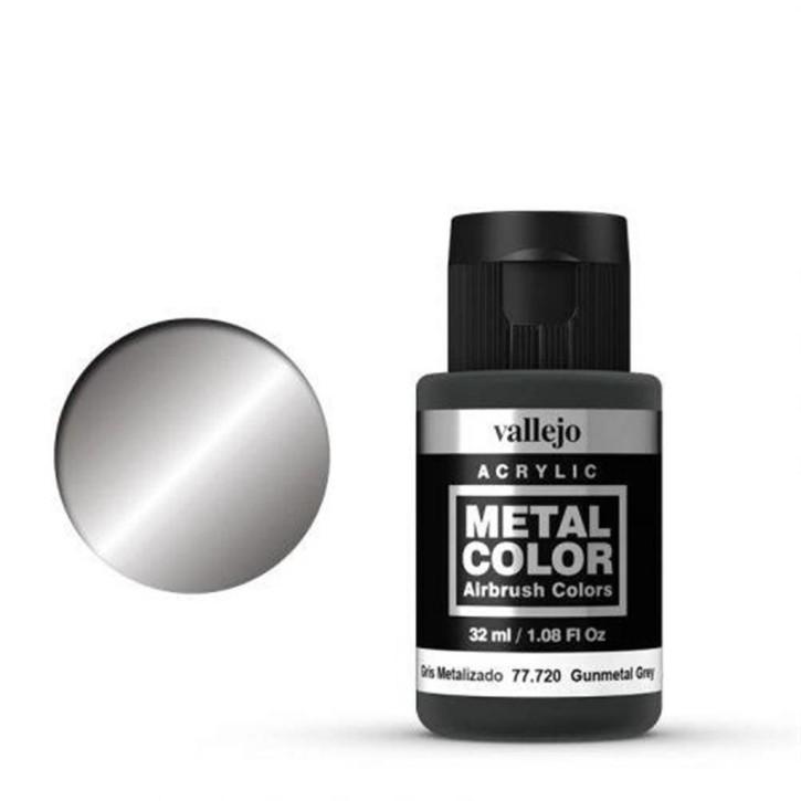 VALLEJO METAL COLOR: 720 Gunmetal Grey 32 ml