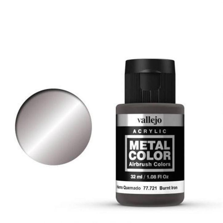VALLEJO METAL COLOR: 721 Verbranntes Eisen 32 ml