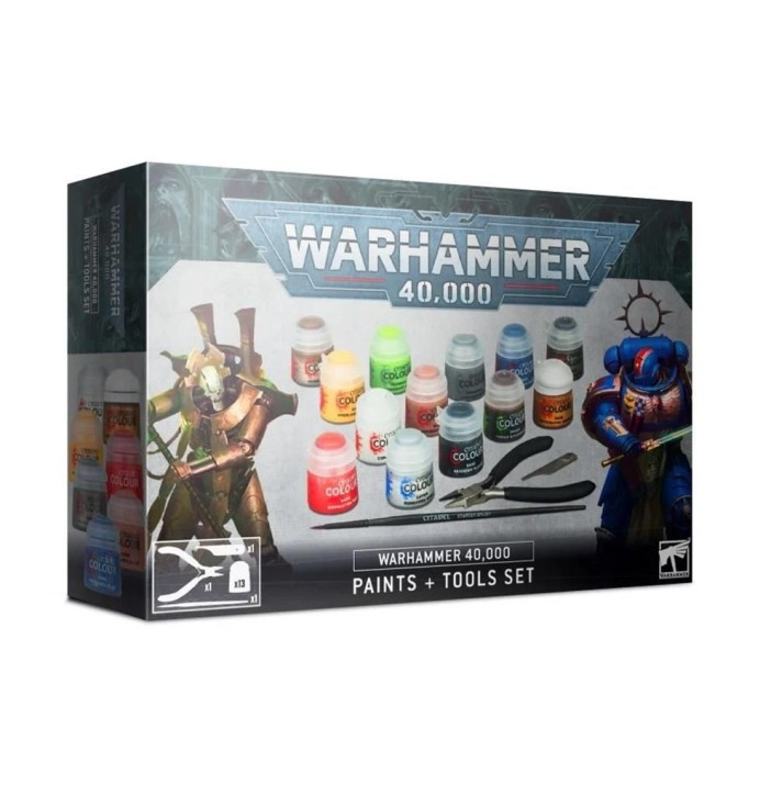 CITADEL: Warhammer 40k Paints + Tools Set