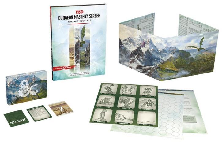 D&D RPG: Dungeon Masters Screen Wilderness Kit - EN