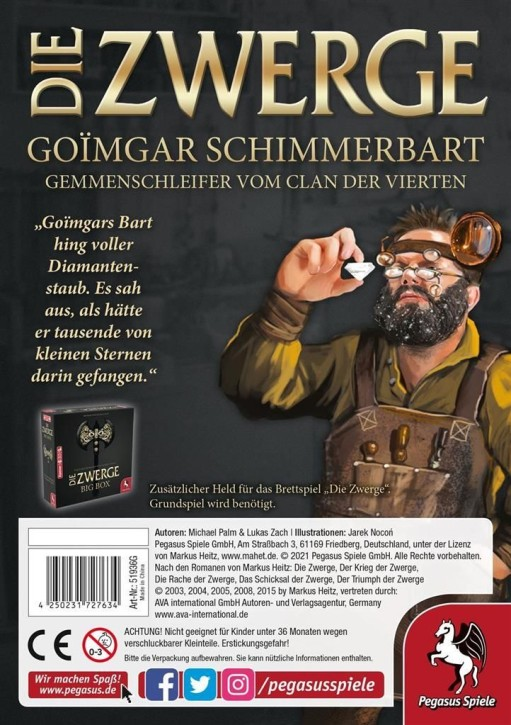 DIE ZWERGE: Charakterpack: Goimgar - DE