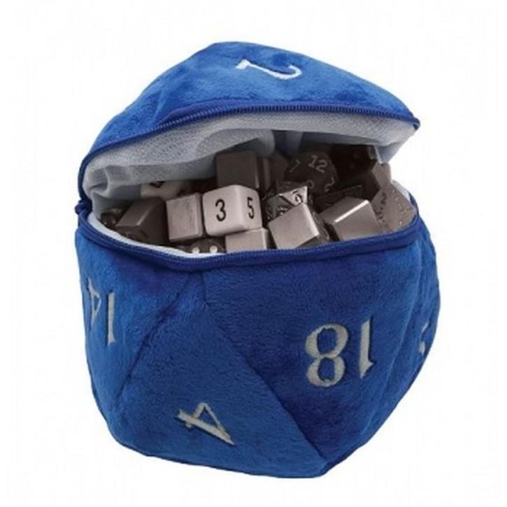 UP: D20 Plush Dice Bag - Blue