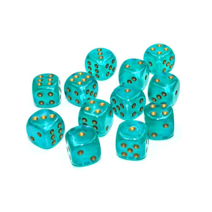 CHESSEX: Borealis Teal/Gold 12x6 sided Diceset