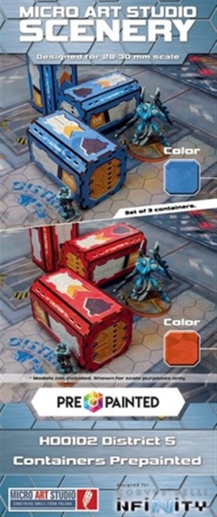 MICRO ART: District 5 Containers (3) PREPAINTED