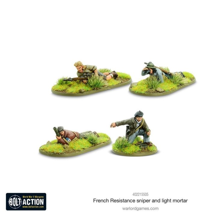 BOLT ACTION: French Resistance Sniper & Light Mortar Team