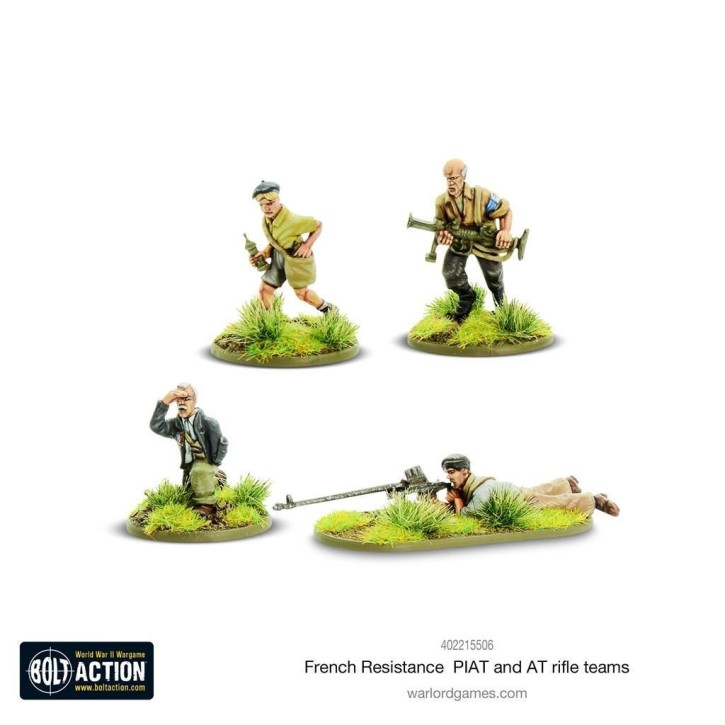 BOLT ACTION: French Resistance PIAT & Anti tank rifle team