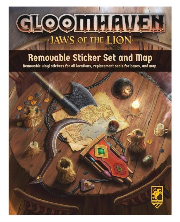 GLOOMHAVEN: Jaws of the Lion Removable Sticker Set & Map -EN