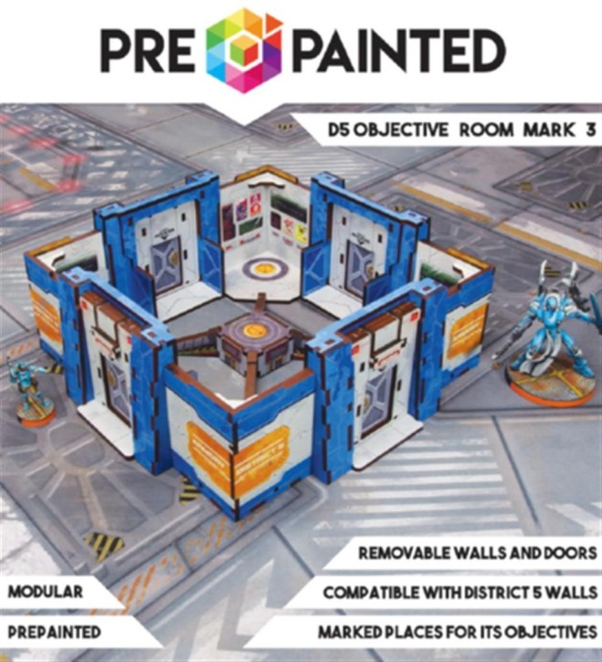 MICRO ART: District 5 Objective Room Mark 3 PREPAINTED Blue