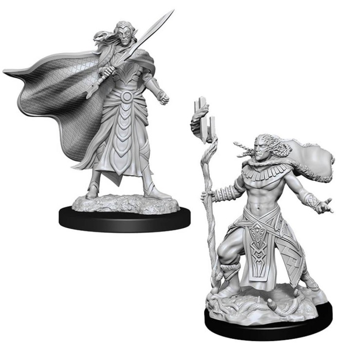 MAGIC MINIATURES: Elf Fighter & Elf Cleric