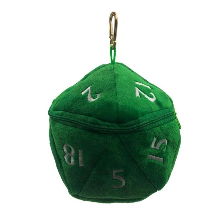 UP: D20 Plush Dice Bag: Green