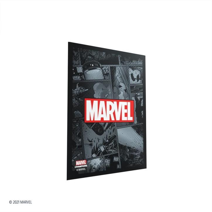 GAMEGENIC: Marvel Champions Sleeves: Marvel Black