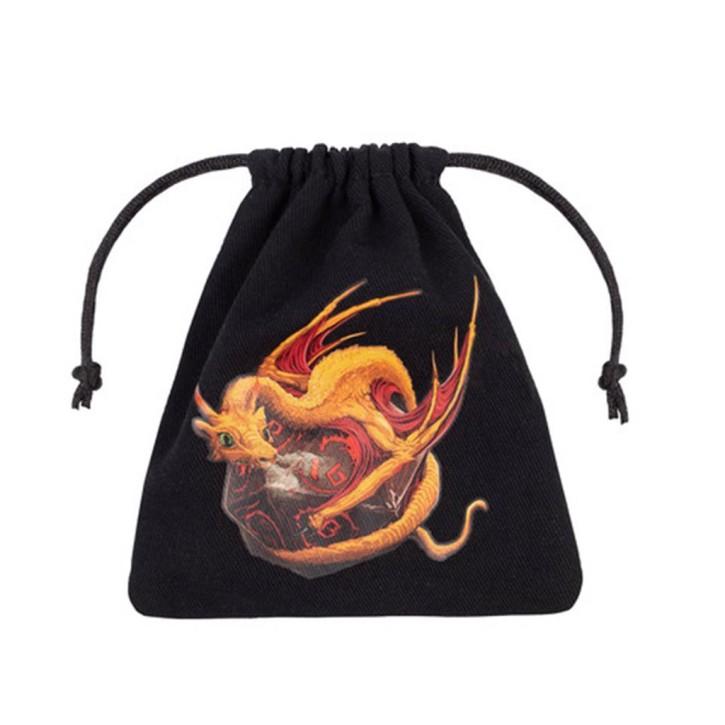 WÜRFELBEUTEL: Dragon Black & Adorable Dice Bag