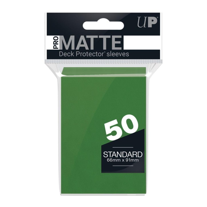 ULTRA PRO: Sleeves Standard - Non Glare Green (50)