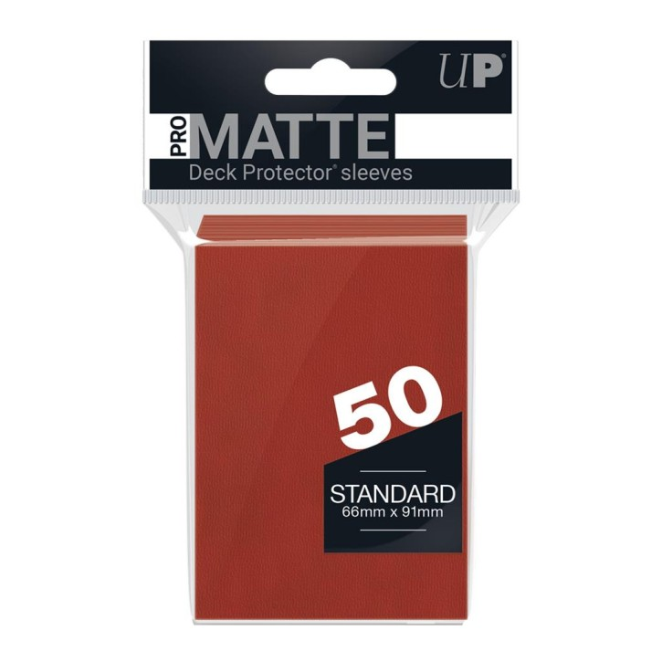 ULTRA PRO: Sleeves Standard - Non Glare Red (50)